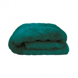 BAMBURY FAUX FUR THROW - LAKE